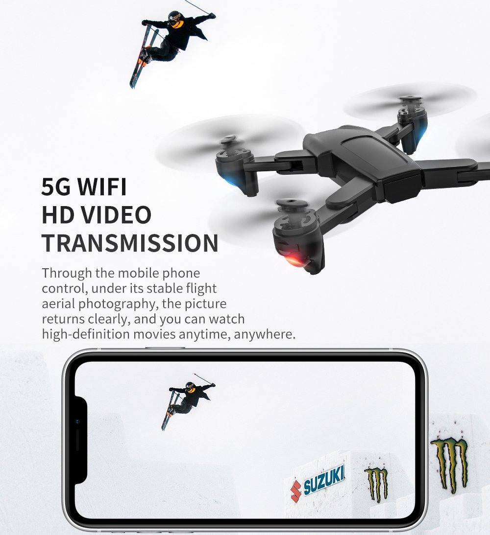 ZLRC SG701-S 1080P GPS 5G WIFI FPV Drone Optical Flow 50X Zoom RC Quadcopter RTF