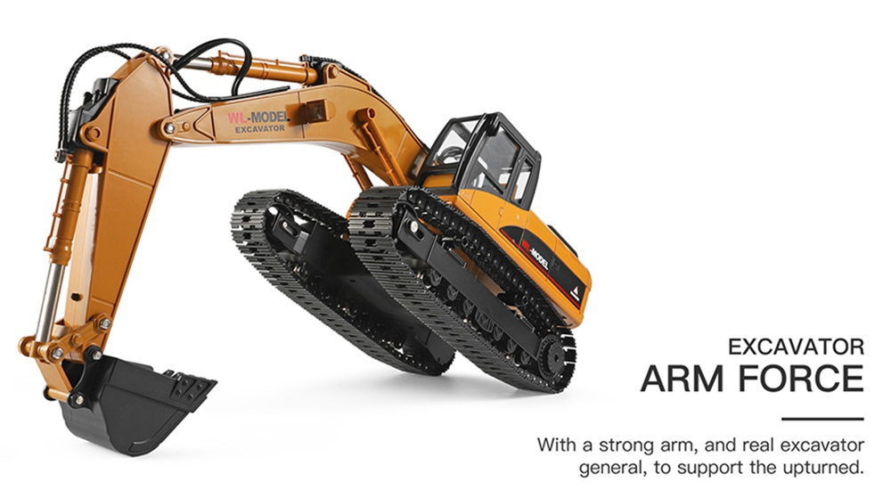 Wltoys 16800 2.4G 8CH RC Excavator with Light Sound Function Engineering Vehicle RTR