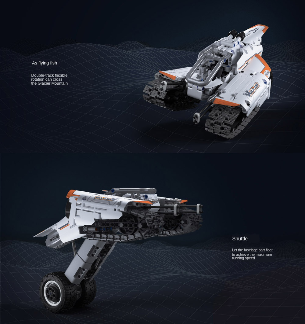 Xiaomi Building Blocks Flying Fish Shuttle Crawler Car Jupiter Dawn Series Sci-Fi Kids Puzzle Toy from Xiaomi Youpin