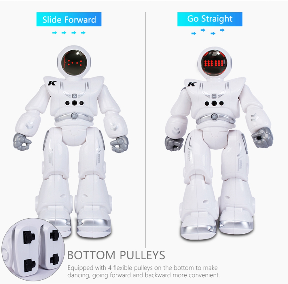 JJRC R18 RC Robot 2.4G Gesture Sensing Programmable Remote Control Music Dance Robot Toy - White
