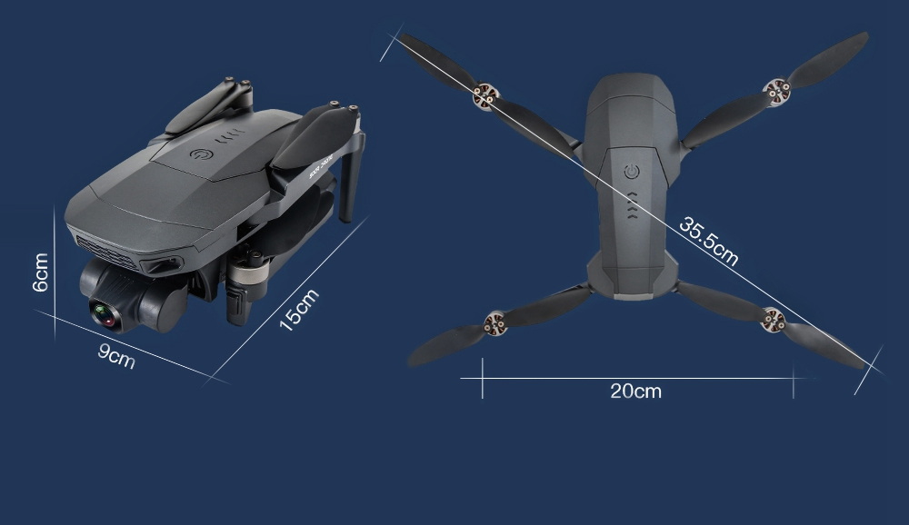 ZLL SG907 MAX 4K 5G WIFI FPV GPS Πτυσσόμενο RC Drone με Διπλή Κάμερα 3-Axis Gimbal Optical Flow Positioning RTF - Two Battery with Bag
