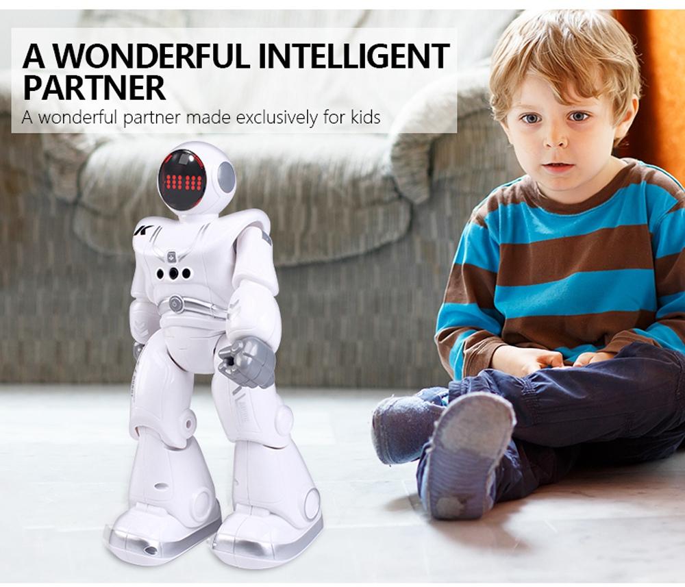 JJRC R18 RC robot 2.4G gesztusérzékelő programozható távirányítós zenés táncrobot játék - fehér