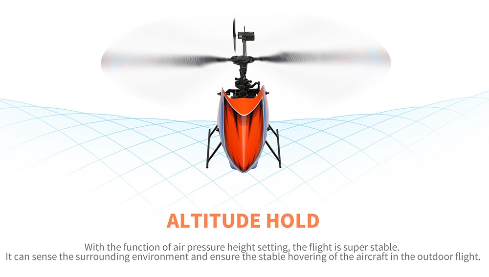 XK K127 4CH 6-Achsen Gyro RC Hubschrauber Höhe Hold Flybarless RTF - Zwei Batterien