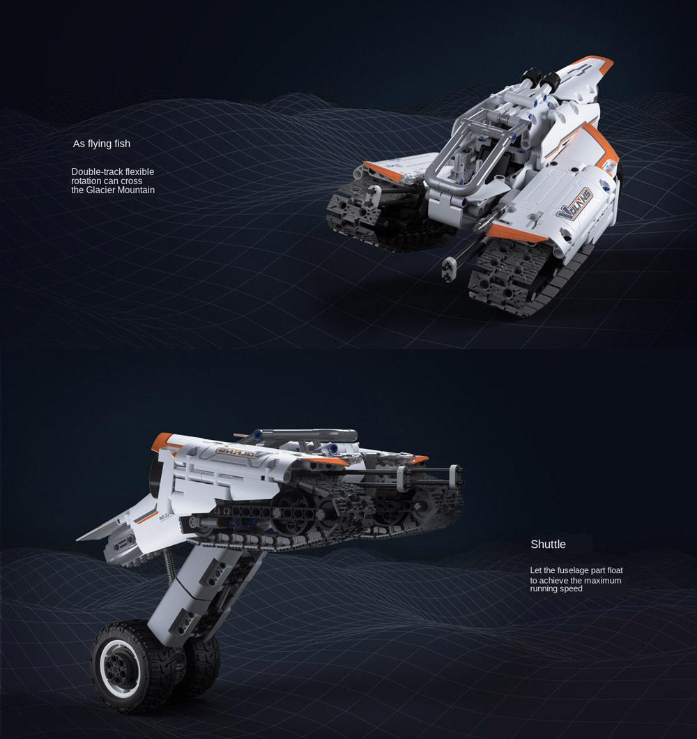 Xiaomi Building Blocks Flying Fish Shuttle Crawler Car Jupiter Dawn Series Sci-Fi Kids Puzzle Toy from Xiaomi Youpin