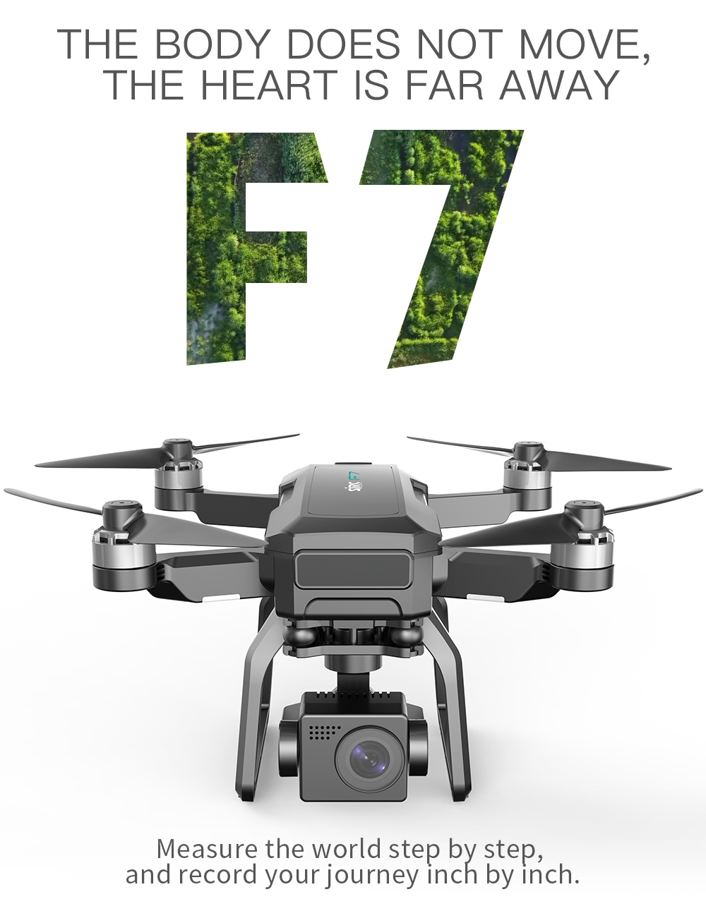 SJRC F7 4K Pro GPS 5G WIFI 3KM FPV 3-Axis Mechanical Gimbal Optical Flow Brushless Drone - One Battery with Bag